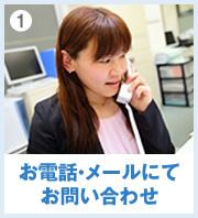 1 お電話・メールにてお問い合わせ